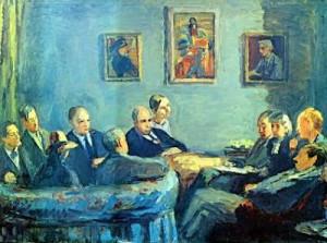 meeting painting bloomsbury group